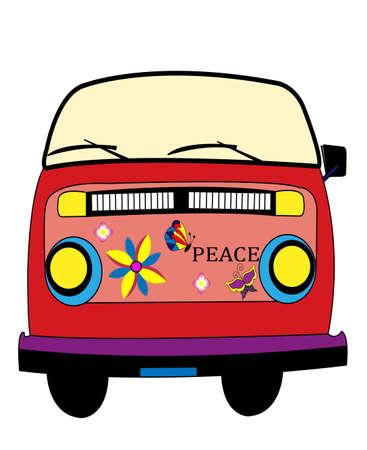 hippy: hippie bus