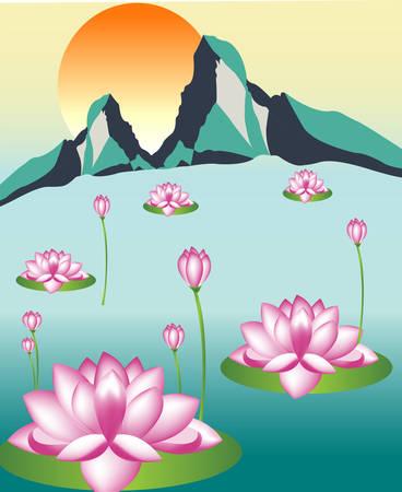 Lily flower illustration.