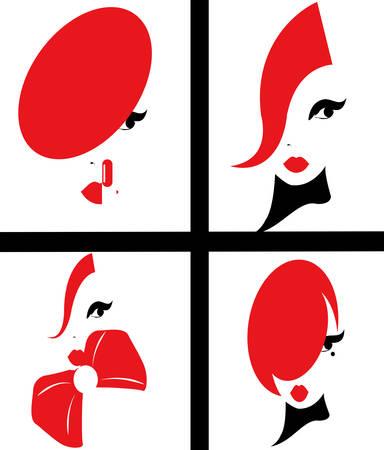 illustration of a glamorous women Stock Illustratie