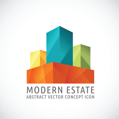residential house: Modern or Creative Estate Abstract Vector Concept Icon