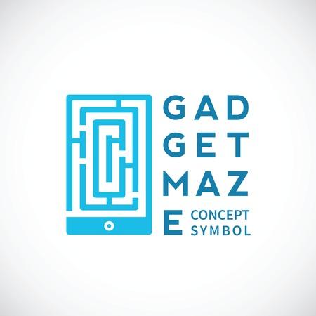 Gadget Maze Abstract Concept Icon Vector
