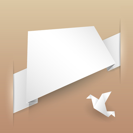 paper banner: Abstract Vector Paper Banner Origami