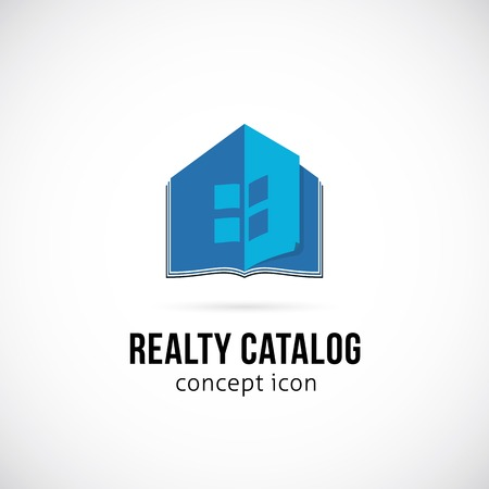 Real Estate Catalog Concept Symbol Icon or Logo Template Vector