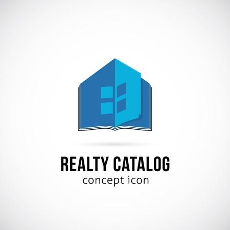 catalog: Real Estate Winkel Concept Symbol pictogram of Template Logo