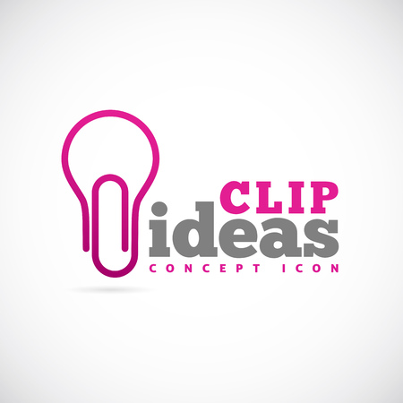 Clip Ideas Vector Concept Symbol Icon or Logo Template Vector