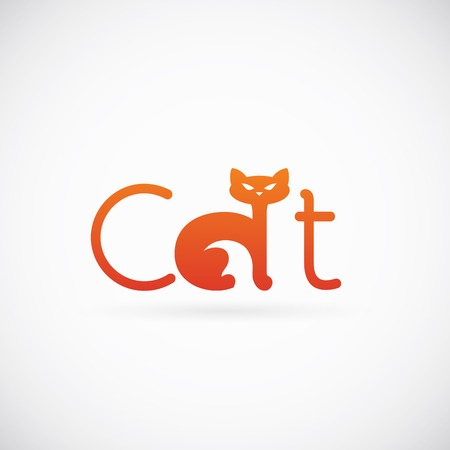 Cat Concept Symbol Icon or Logo Template Vector