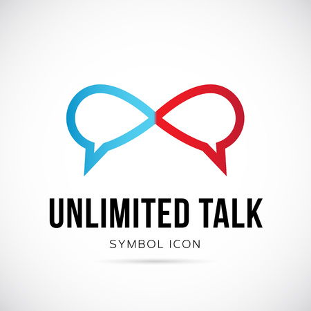 Unlimited Talk Concept Symbol Icon  Vector