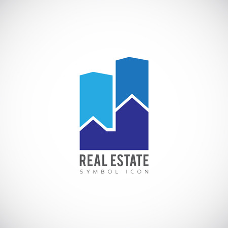 real estate sign: Real Estate Concept Symbol Icon  Illustration