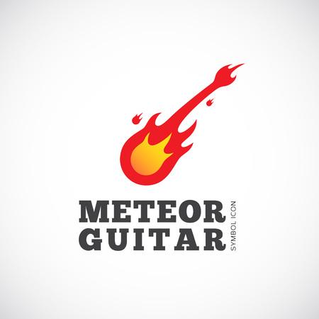 meteor shower: Meteor Guitar Concept Symbol Icon  Illustration