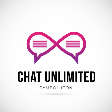 unlimited: Chat Unlimited Vector Concept Symbol Icon or Logo Template Illustration