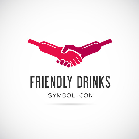stag party: Friendly Drinks Bar Concept Symbol Icon  Illustration