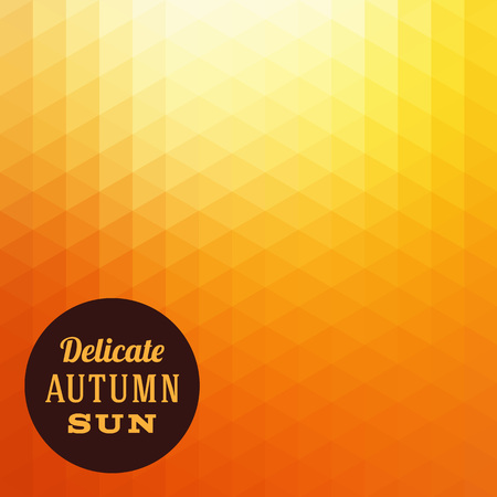 red and yellow card: Autumn Sun Triangle