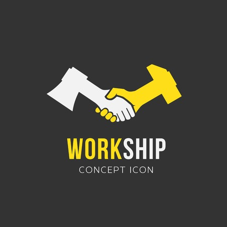 Work and Friendship Abstract  Vector