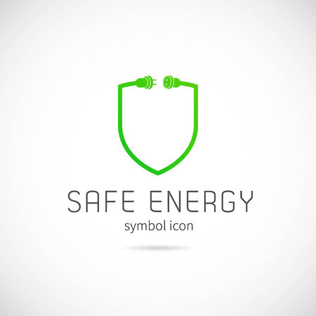 Safe Energy Vector Concept Symbol Icon or Logo Template Vector