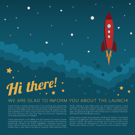 Project Launch Rocket in Space