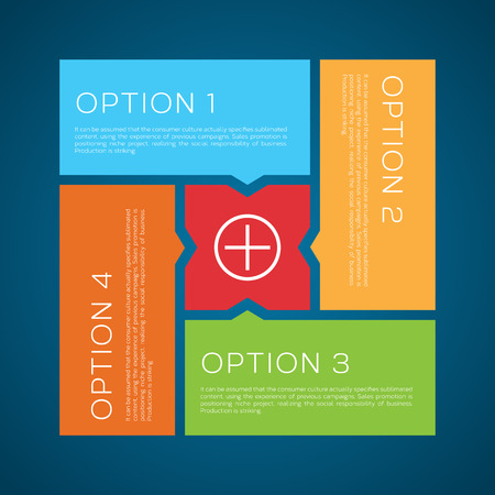 education choice: Flat Style Options Vector Background