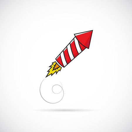 Firework Rocket Illustration Symbol Icon or Label Vector