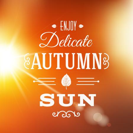 autumn park: Delicate Autumn Sun Abstract  Illustration