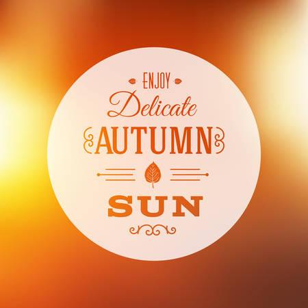 yellow leaves: Autumn Sun Abstract
