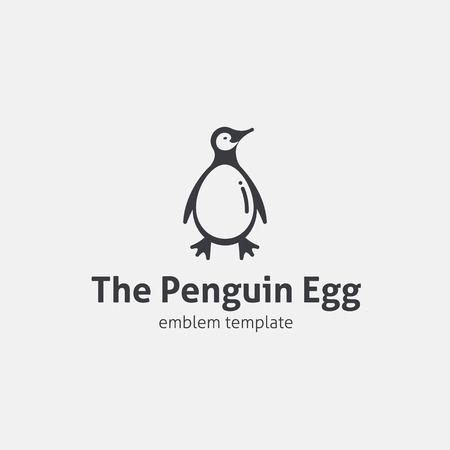 Penguin Egg Concept Symbol Icon  Vector