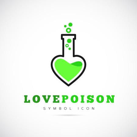 pocion: Amor Poison Concepto de símbolo del icono