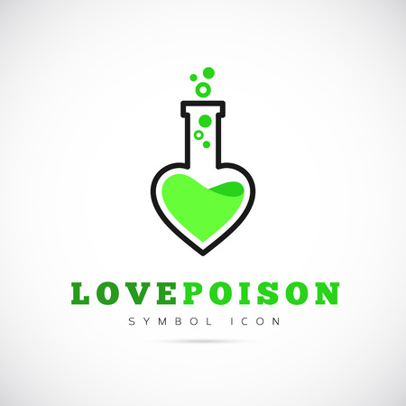 poison symbol: Love Poison Concept Symbol Icon