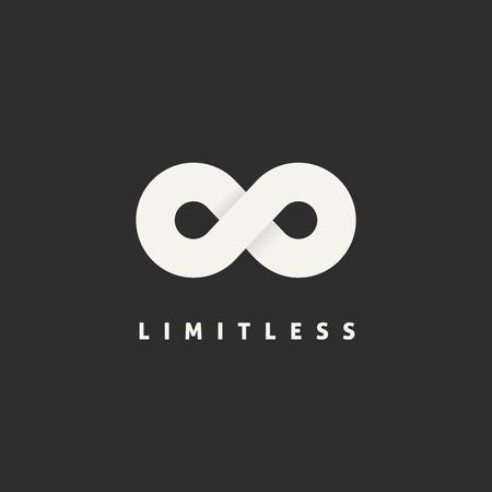 simbolo infinito: Limitless Concepto de s�mbolo del icono