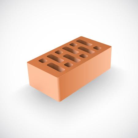 concrete blocks: Brick Realistic Template Illustration