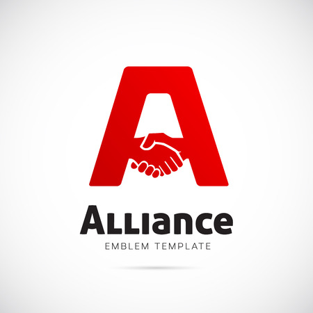 Alliance Vector Concept Symbol Icon or Logo Template Vectores