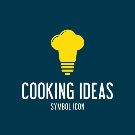 Cooking Ideas Concept Symbol Icon or Logo Template Vector