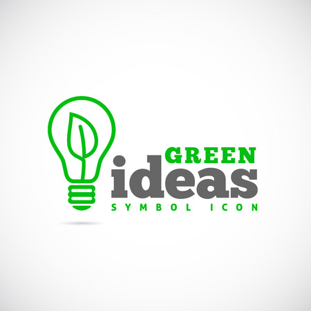 Green Ideas Concept Symbol Icon  Vectores