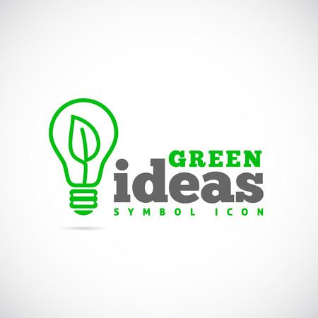luz natural: Ideas verdes Concepto de s�mbolo del icono Vectores