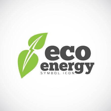 Eco Energy Vector Concept Symbol Icon or Logo Template Vector