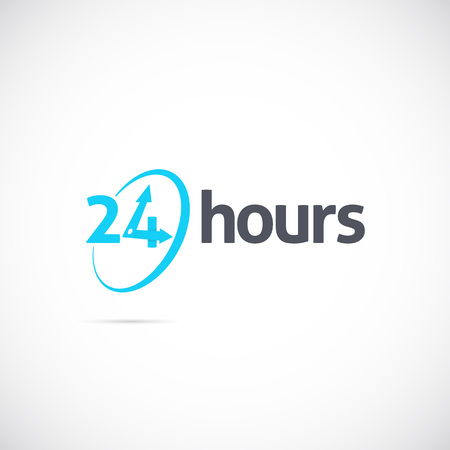 twenty four hours: Twenty Four Hours Symbol Icon or Signboard For Your Business