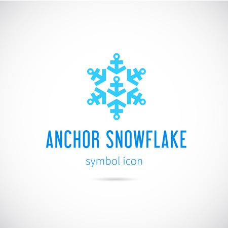 Sneeuwvlok Van Ankers Vector Concept Symbool Icon