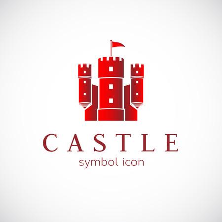 castillos: Resumen Castillo Icono del vector