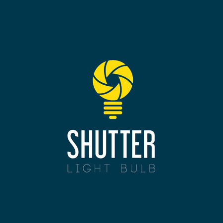 electric bulb: Shutter Light Bulb Abstract Symbol Icon Illustration