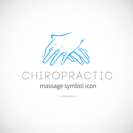 Chiropractic Massage Vector Concept Icon Symbol or Label Reklamní fotografie - 30922913
