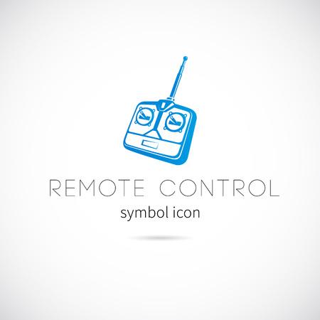 remote control: Remote Control Silhouette Vector Symbol Icon or Label Illustration