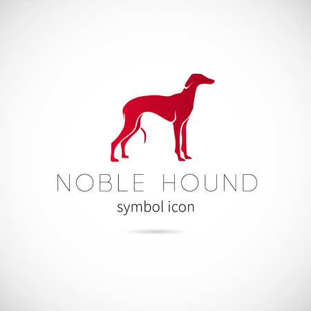 Noble Hound Silhouette Vector Symbol Icon or Label Vector