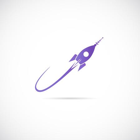 Space Ship Vector Symbol Icon or Label Vectores