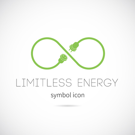 Limitless Energy Vector Concept Symbol Icon