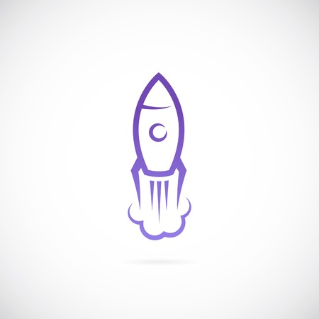 Vector rocket symbol icon