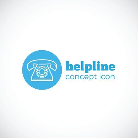 helpline: Helpline abstract concept icon or symbol Illustration