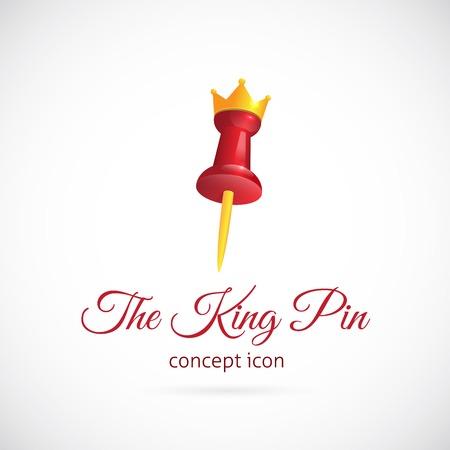 vector symbol: King pin abstract vector symbol icon