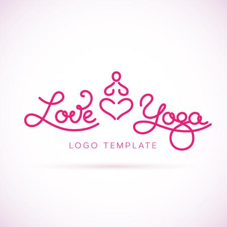 position d amour: Amour Yoga Modèle Résumé Illustration