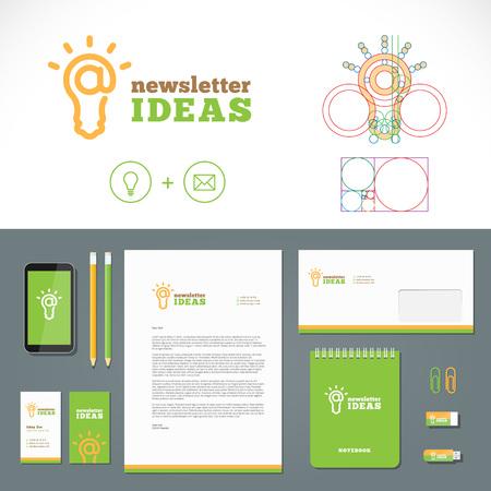 golden ratio: Idées de newsletter et Identity Template Illustration