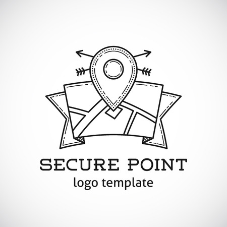 hideout: Safe Shield Point Abstract Vector Template Illustration