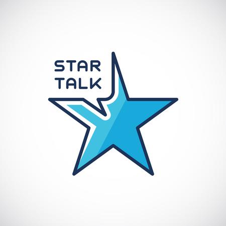 talk show: Star Talk Abstract Vector Template Illustration