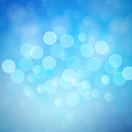 Vector Blue Bokeh Lights Abstract Background Illustration
